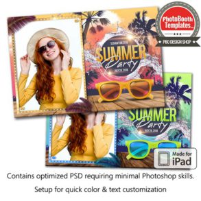 Beach Party Glam Postcard (iPad)