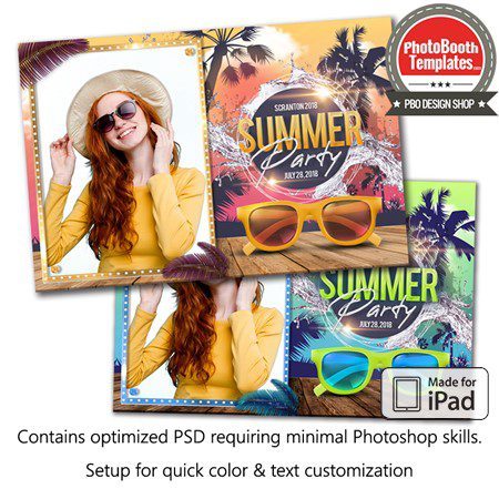 Beach Party Glam Postcard (iPad) 1
