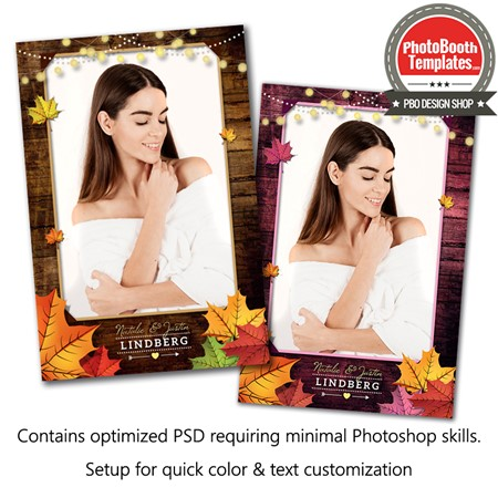 Rustic Autumn Leaves Portrait