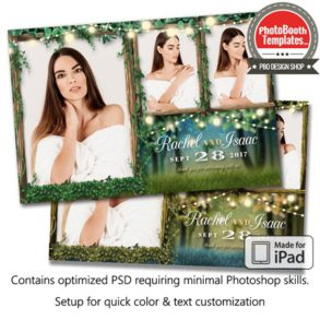 Enchanted Forest Lights Postcard (iPad)