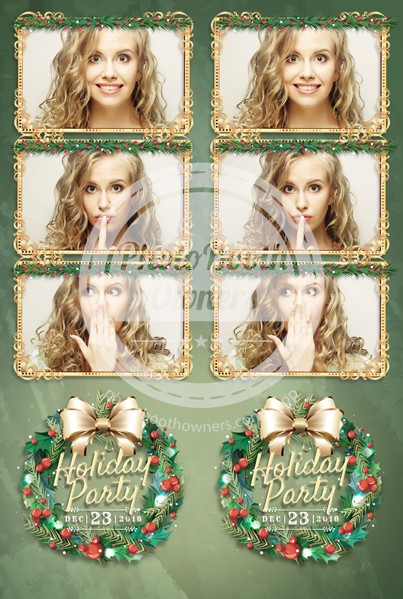 Holiday Wreath 3-up Strips