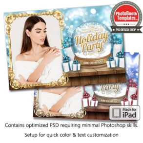 Snow Globe Wonder Postcard (iPad)