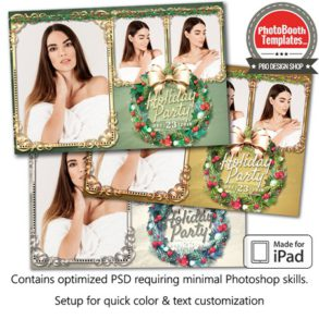 Holiday Wreath Postcard (iPad)