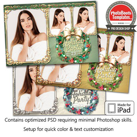 Holiday Wreath Postcard (iPad) 1