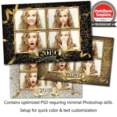 New Year Sparkle Postcard 1
