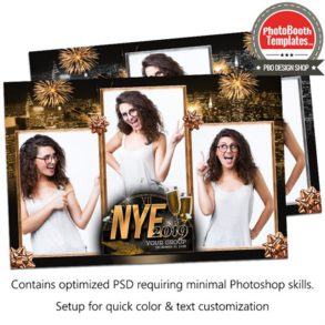 Glamour New Year Party Postcard