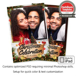 Wooden Joyful Christmas Celebration Portrait (iPad)