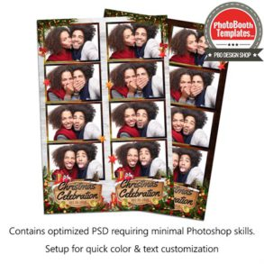 Wooden Joyful Christmas Celebration 4-up Strips