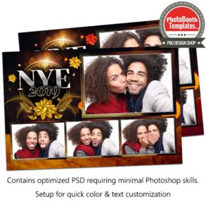 Golden New Year Eve Postcard