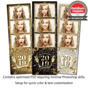 New Year Sparkle 3-up Strips
