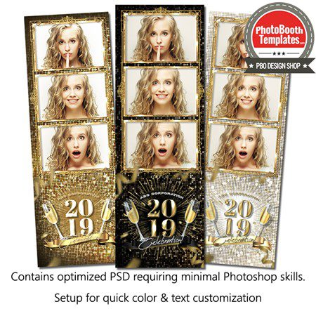 New Year Sparkle 3-up Strips 1