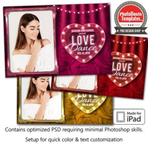 Marquee Heart Postcard (iPad)
