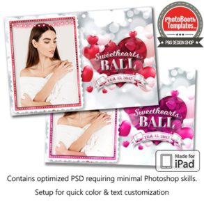 Rosy Romantic Hearts Postcard (iPad)