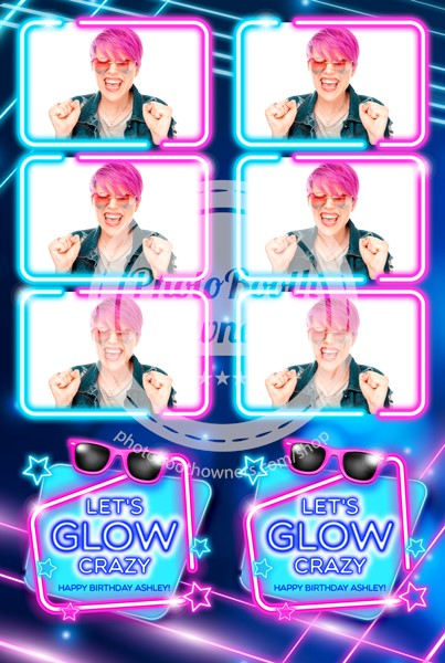 Glow Party 3-up Strips