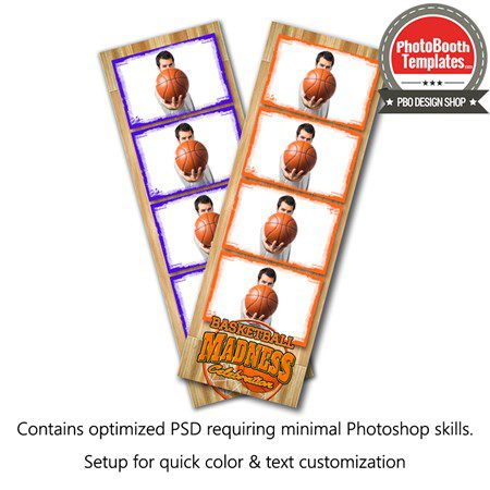 Basketball Madness 4-up Strips 1