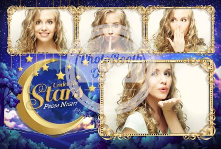 Moon and Stars Celebration Postcard