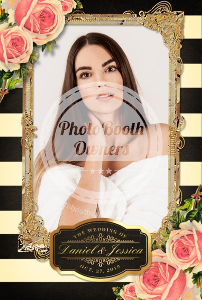 Striped Floral Glam Portrait