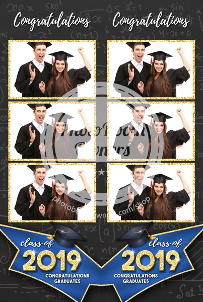 Graduation Glimmer 3-up Strips