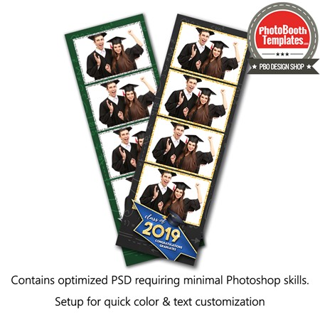 Graduation Glimmer 4-up Strips