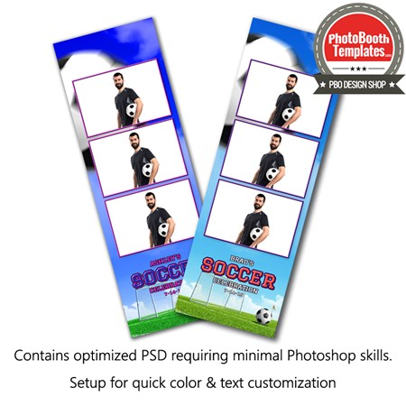 Soccer Goal 3-up Strips