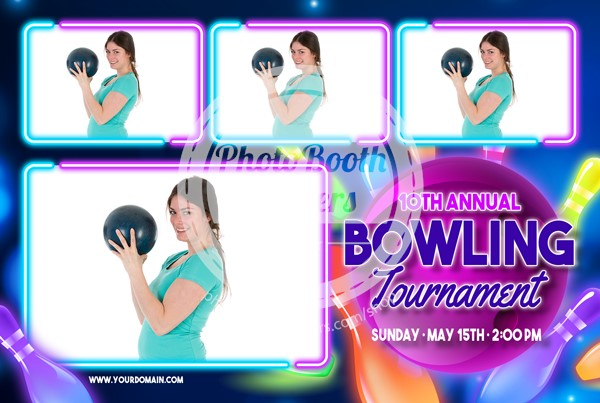 Bowling Celebration Postcard