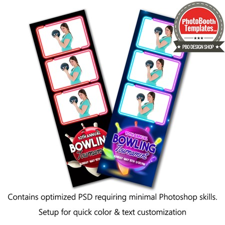 Bowling Celebration 3-up Strips