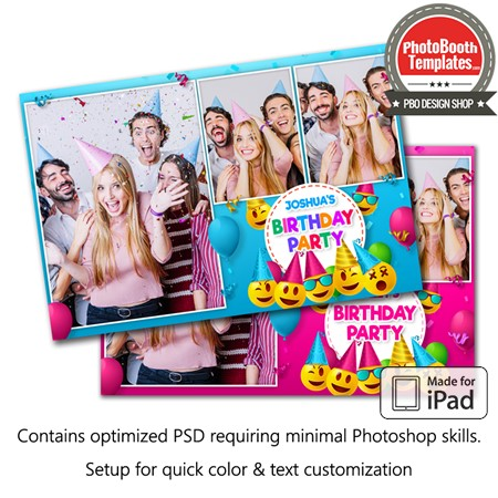 Emoji Birthday Postcard (iPad)
