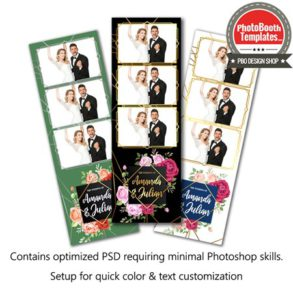 Enchanting Rose Garden 3-up Strips