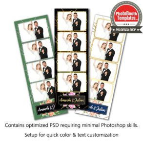 Enchanting Rose Garden 4-up Strips