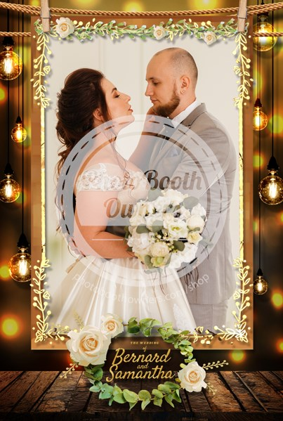 Rustic Hanging Photos Portrait