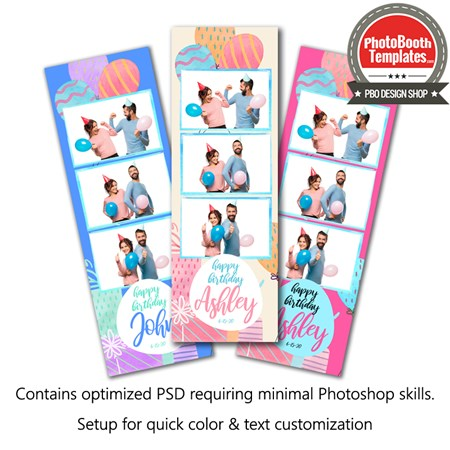 Gifty Celebration 3-up Strips