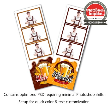 Beer Celebration 3-up Strips