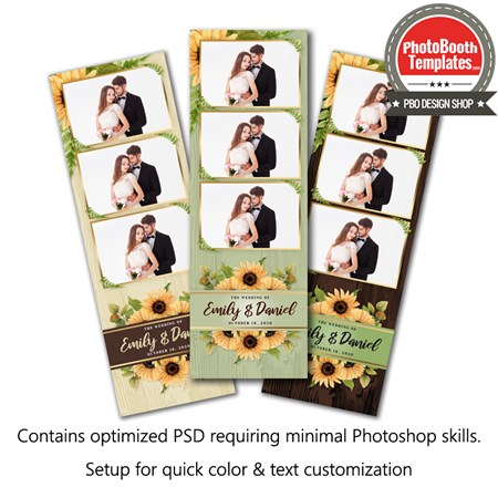 Sunflower Celebration 3-up Strips