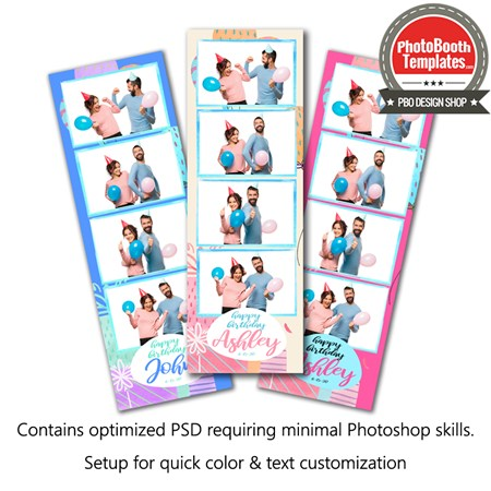 Gifty Celebration 4-up Strips