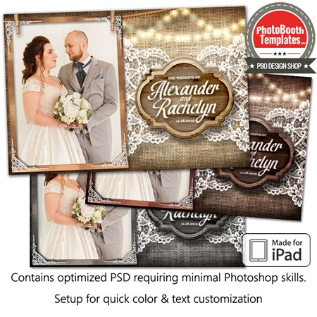 Rustic Burlap and Lace Postcard (iPad)