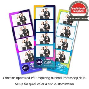 Abstract Formal Celebration 4-up Strips