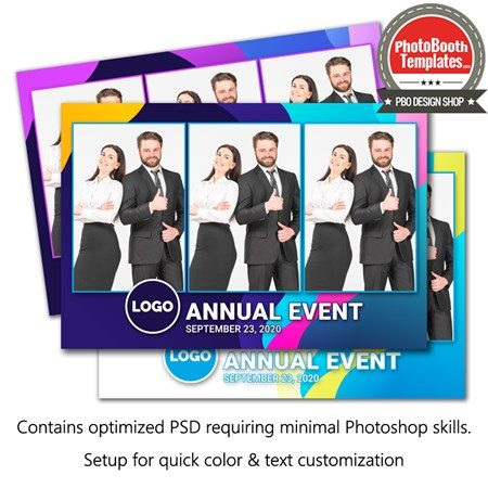 Abstract Formal Celebration Postcard 1