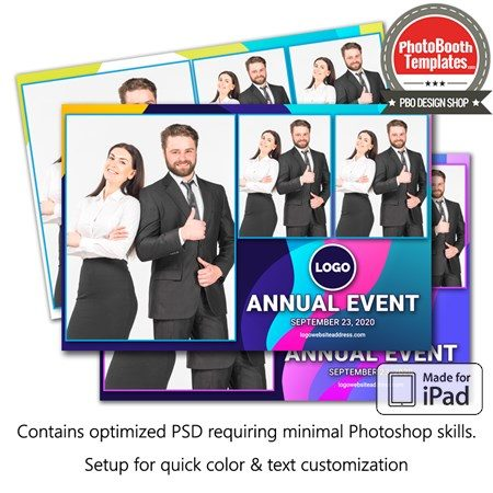 Abstract Formal Celebration Postcard (iPad) 1
