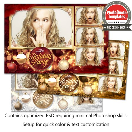 Christmas Ornament Glam Postcard