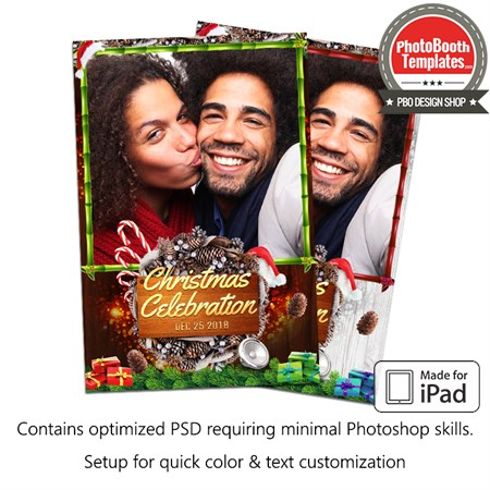 Wooden Christmas Celebration Portrait (iPad) 1