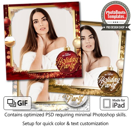 Christmas Ornament Glam Square (iPad)
