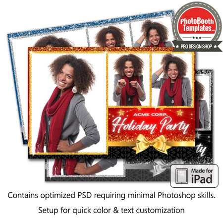 Holiday Glitter Postcard (iPad)