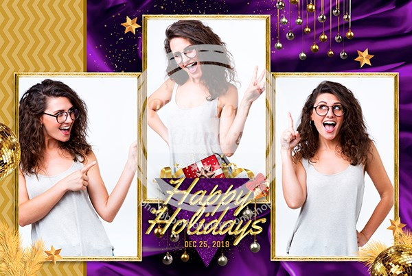 Glamour Holiday Season Postcard