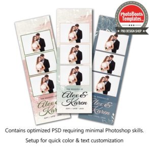 Elegant Floral Watercolor 3-up Strips