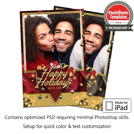 Glamour Holiday Season Portrait (iPad)