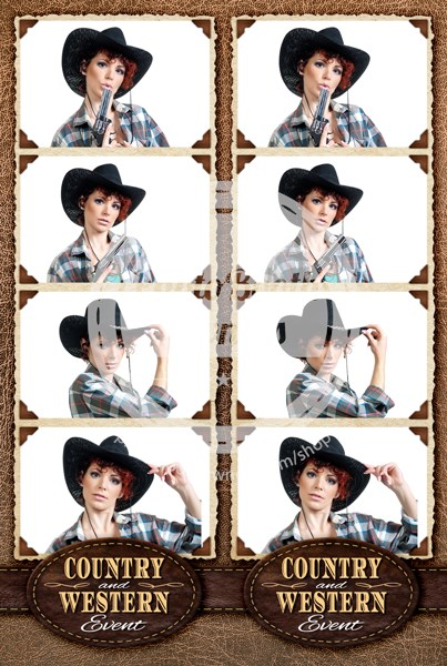 Western Style 4-up Strips