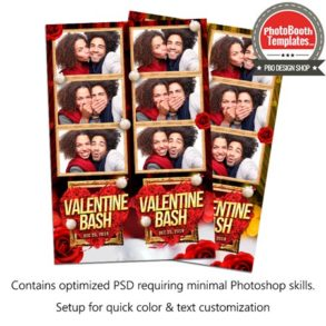Valentine Bash 3-up Strips