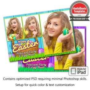 Easter Basket Celebration Postcard (iPad)