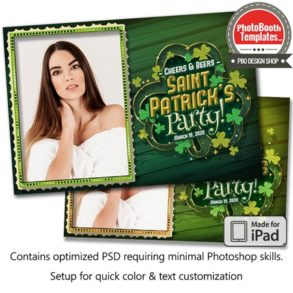 Shamrock Celebration Postcard (iPad)
