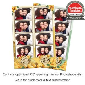 Golden Lily Wedding 4-up Strips